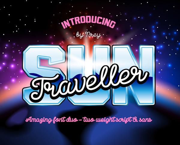 Sun Traveller Free Font