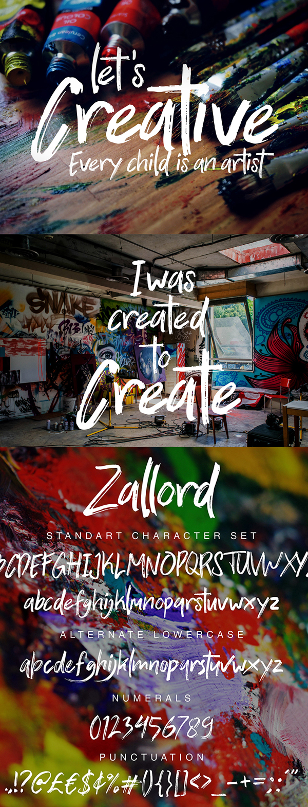Zallord Brush Free Font Letters