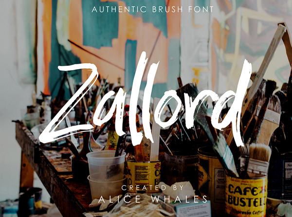 Zallord Brush Free Font