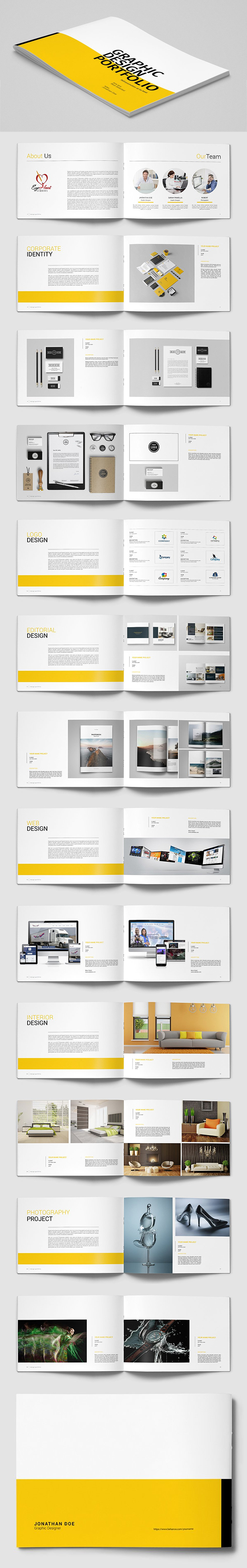 Graphic Design Portfolio Catalog Brochure Template
