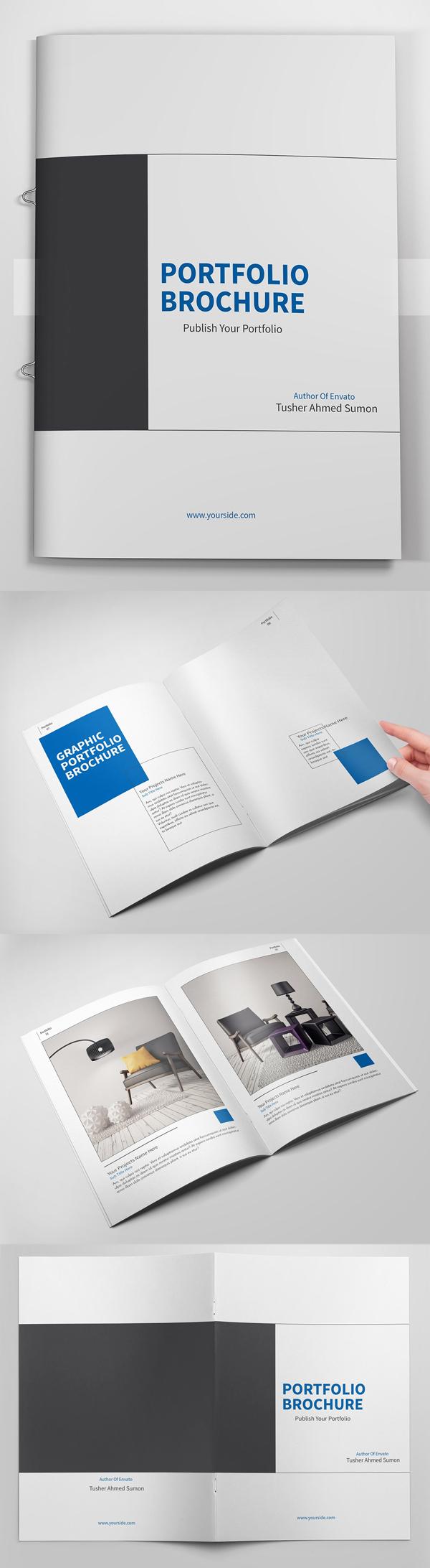 Minimal Portfolio Brochures Template Design