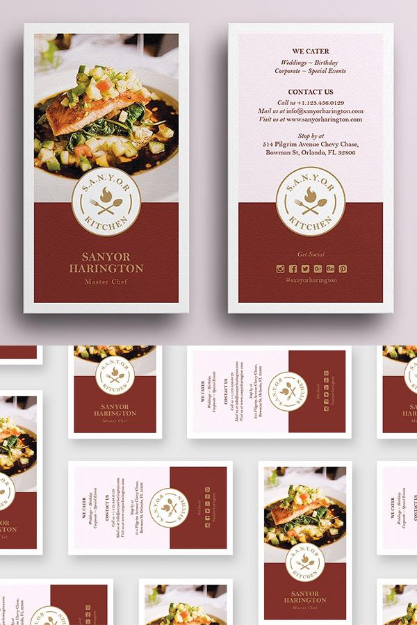 Elegant Food Business Card