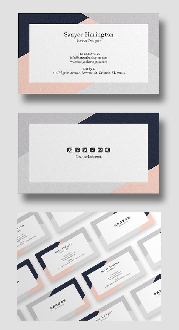 Modern Stylish Minimal Business card