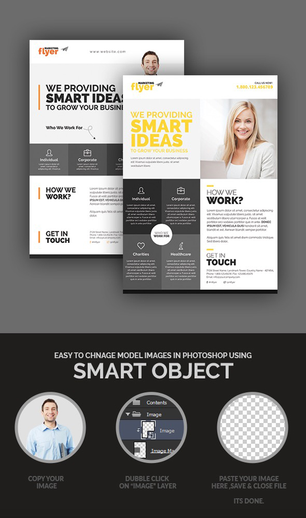 Corporate/Marketing Flyer Design Set