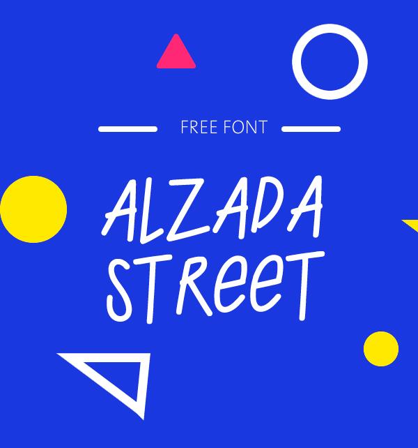 Alzada Street Free Font