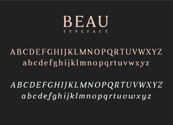Beau Font Letters