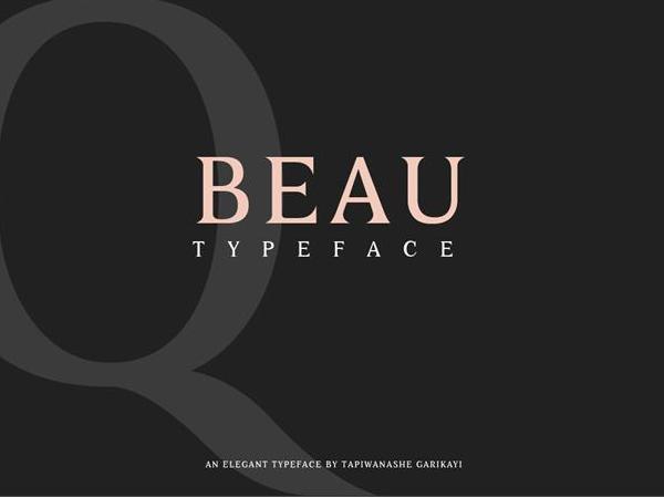 Beau Free Font