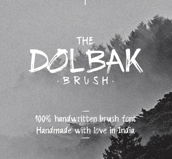 Dolbak Brush Free Font
