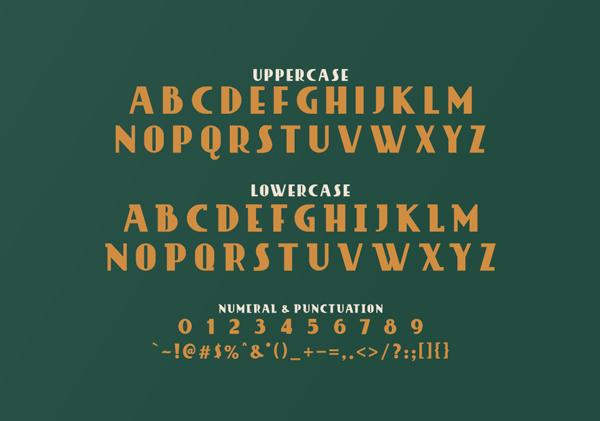 Palmtree Retro Font Letters