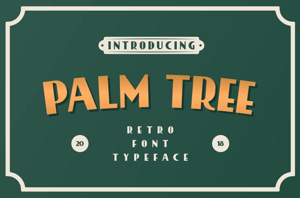 Palmtree Retro Free Font