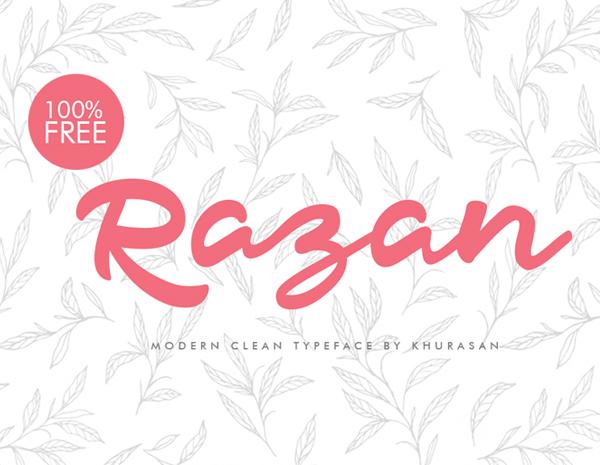 Razan Script Free Font