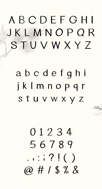 YANG Font Letters
