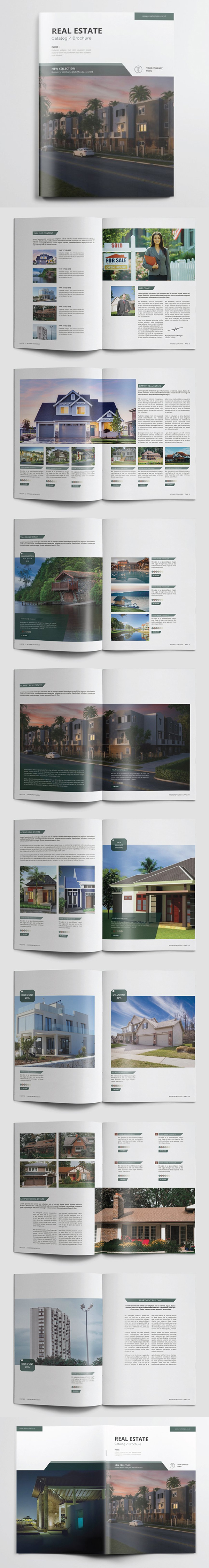 Real Estate Brochure / Catalogs Template