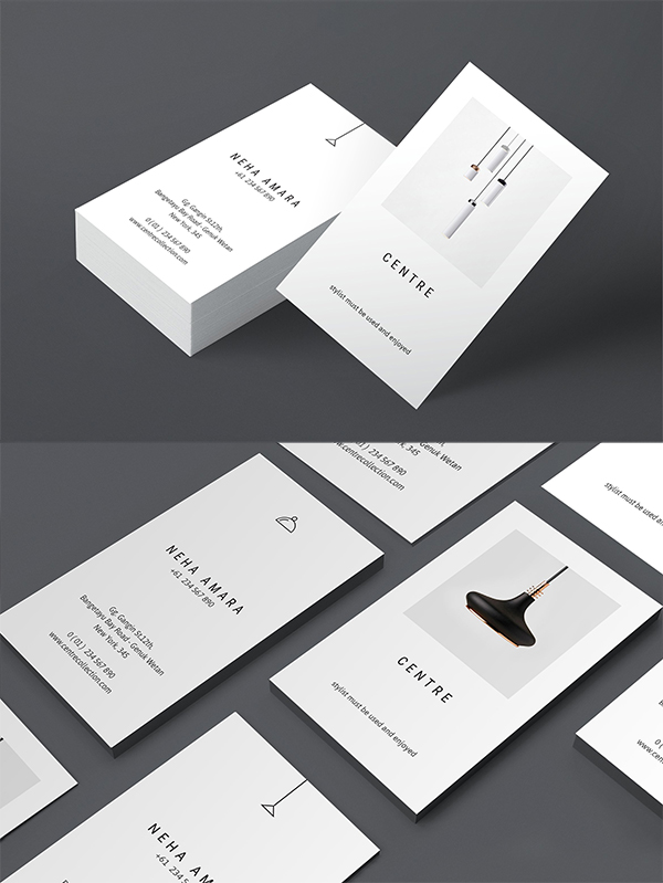 Modern business card psd templates 30 print ready design idevie vertical business cards template accmission Images