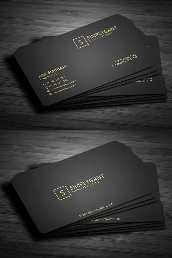 Simple Dark Business Card Template