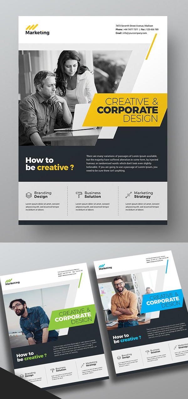 Flyer templates corporate business flyer templates idevie multipurpose corporate flyer template friedricerecipe Choice Image
