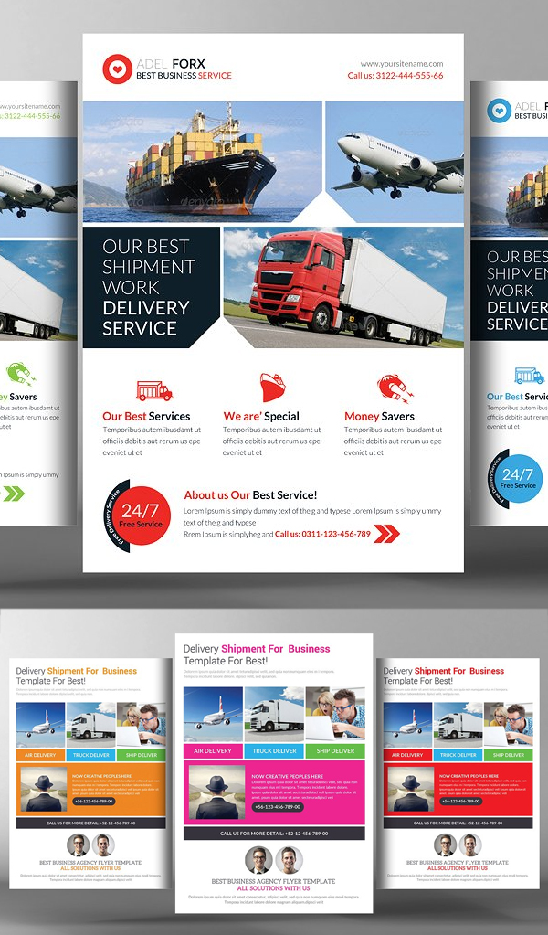 Delivery & Shipment Flyers Bundle