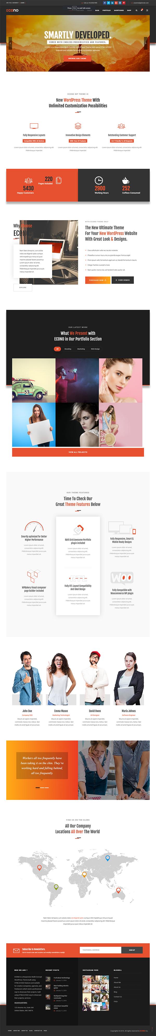 Econo - Creative MultiPurpose WordPress Theme