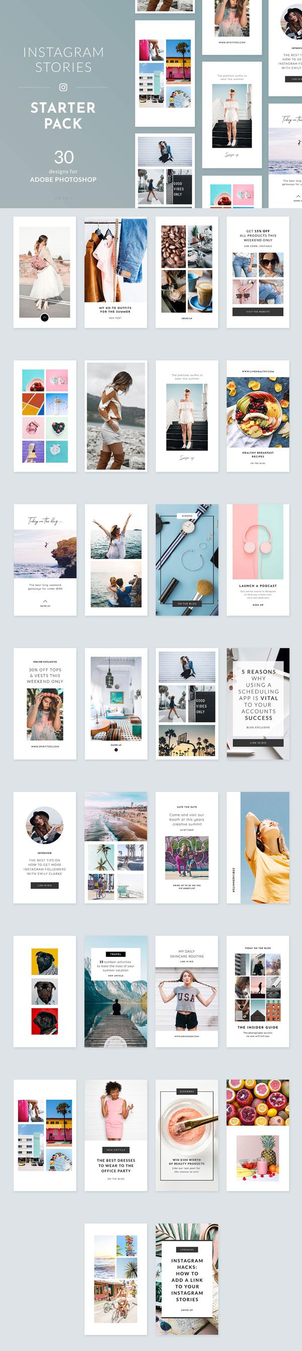 Free Instagram Stories Starter Pack
