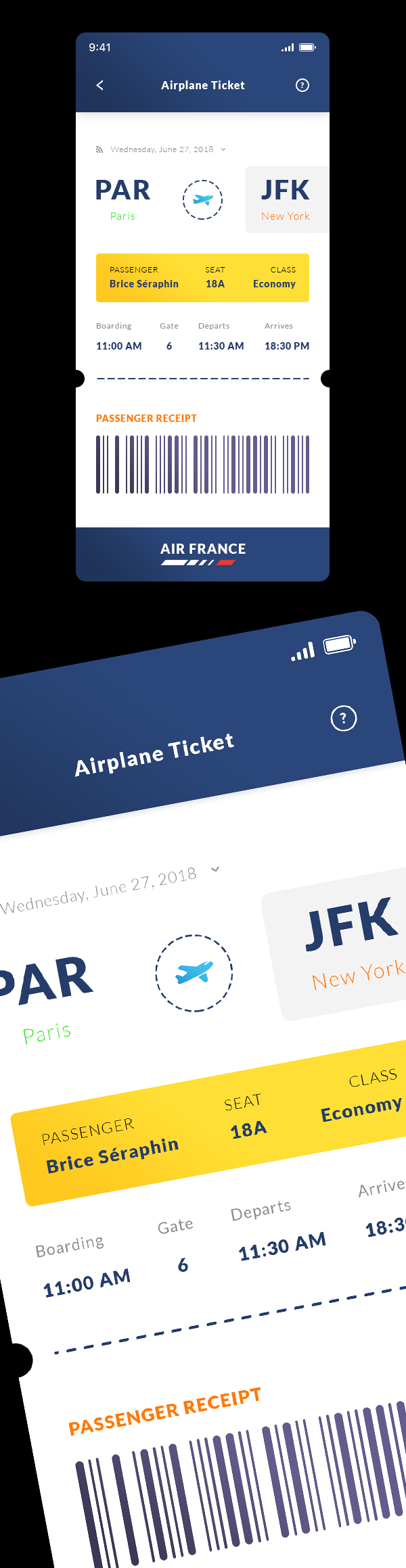 Free Airplane Ticket. IOS App