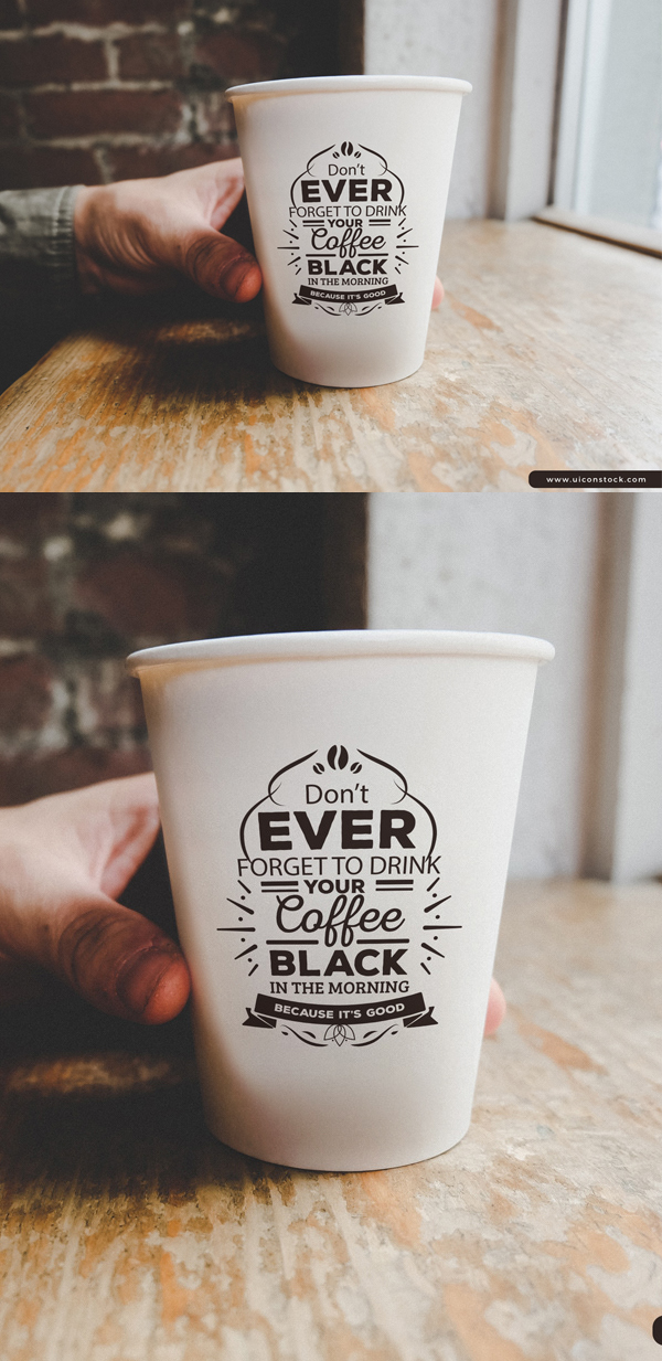 Free Vintage Coffee Cup Logo Branding Mockup PSD