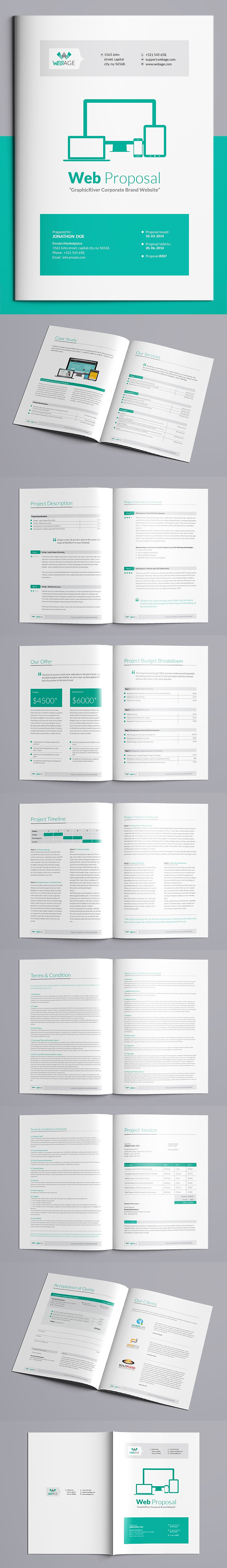 Website Proposal Brochure Template