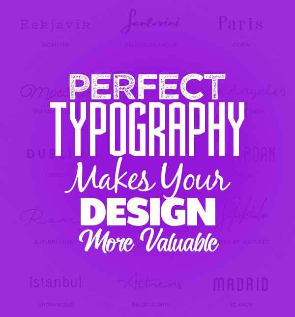 Perfect typography fonts