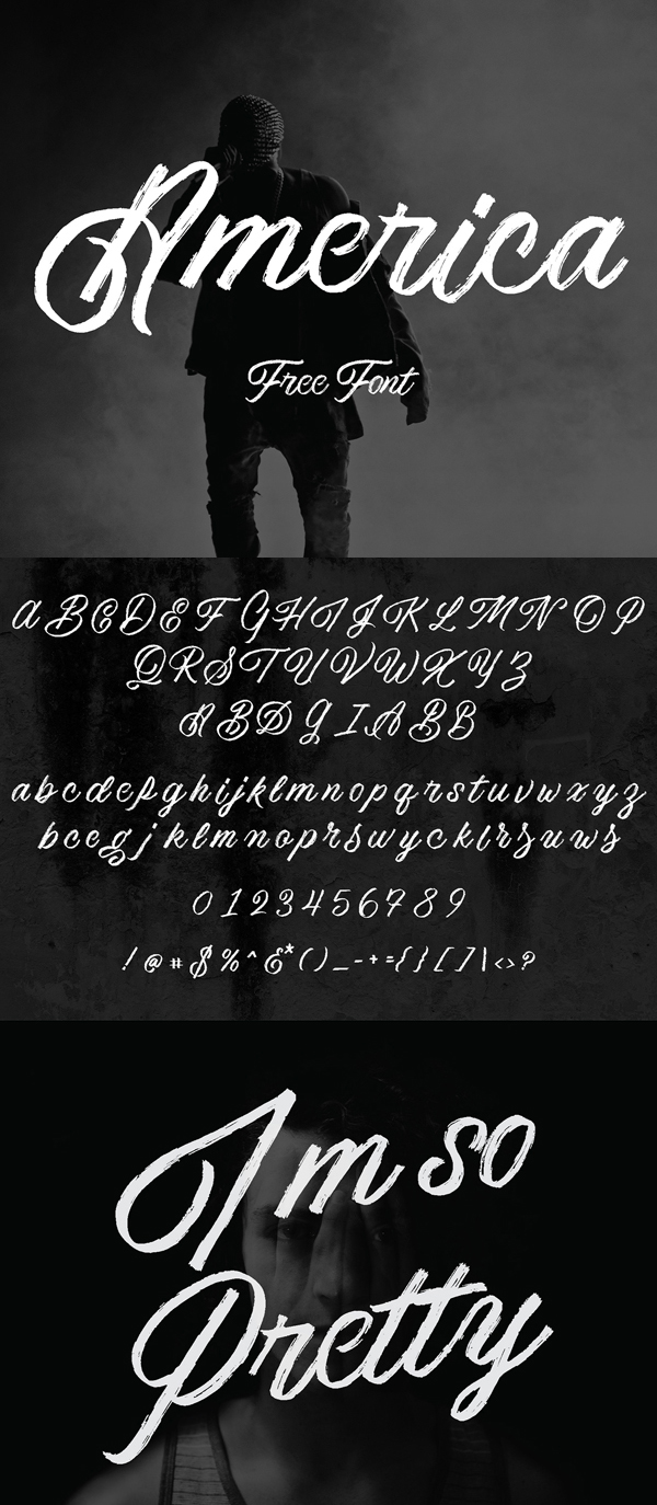 America Free Script Font