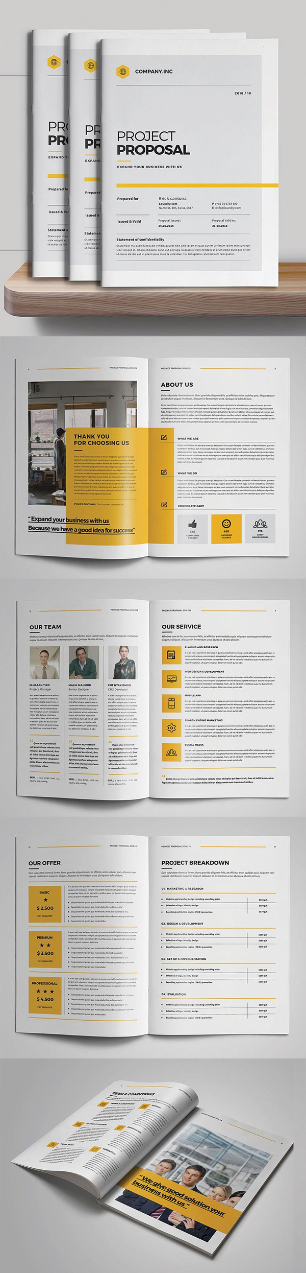 100 Professional Corporate Brochure Templates - 91