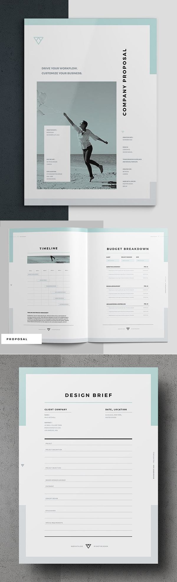 100 Professional Corporate Brochure Templates - 88