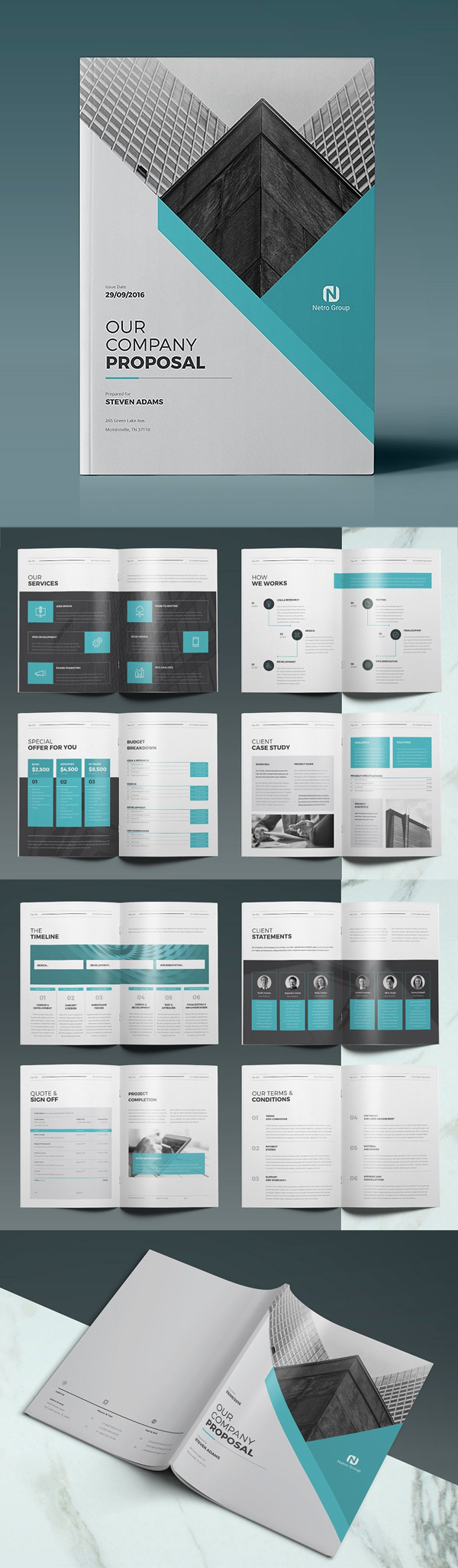 Professional Business Proposal Templates Design - 4