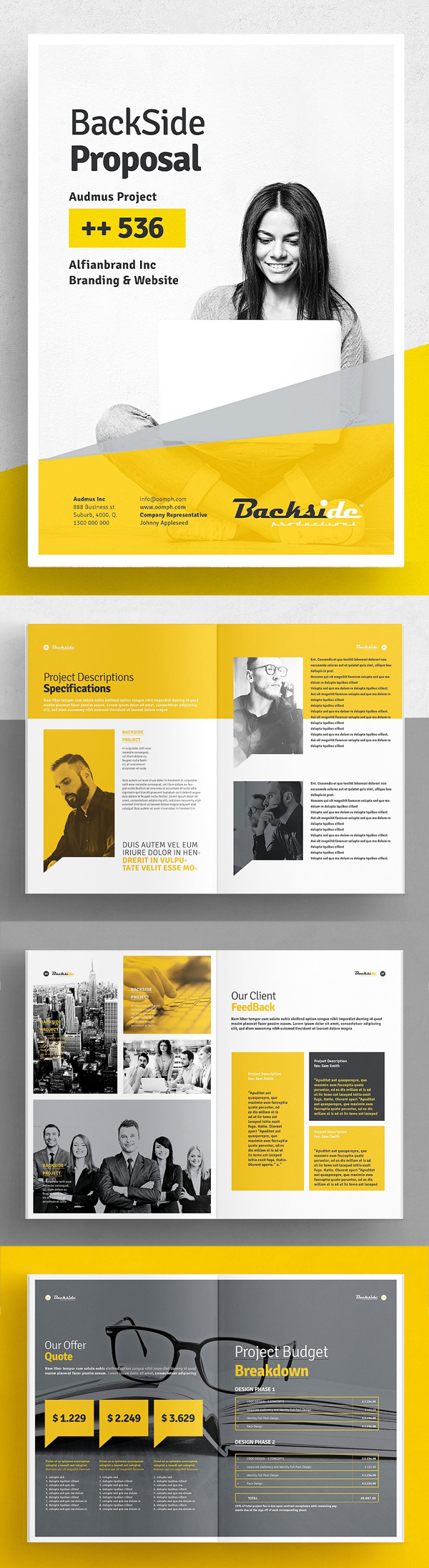 Professional Business Proposal Templates Design - 8