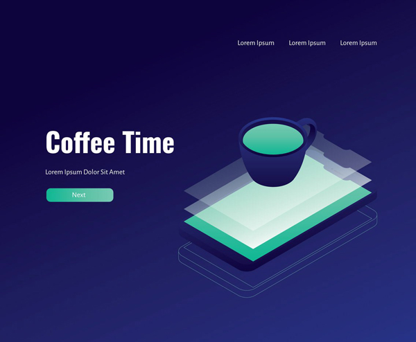 Coffee Mug Interface Free Vector