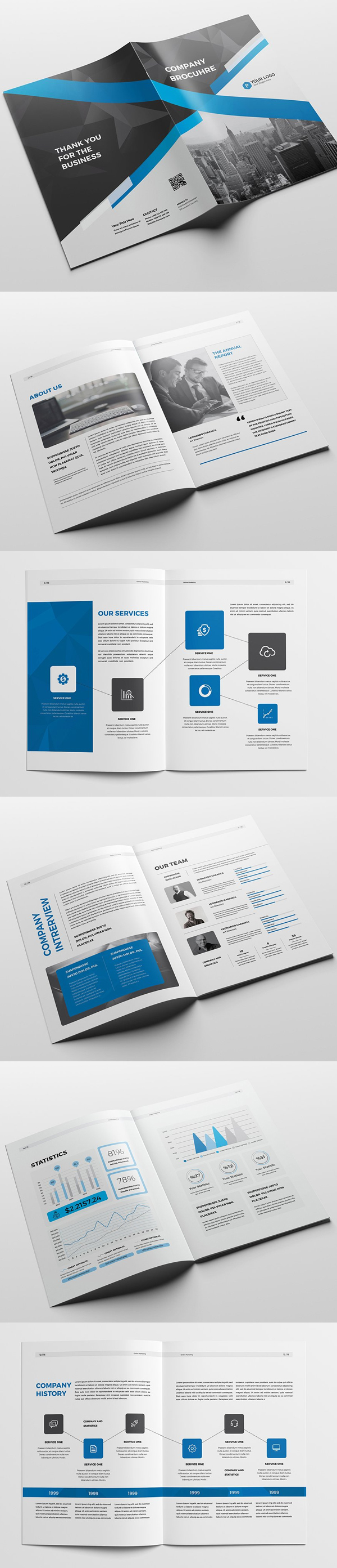 100 Professional Corporate Brochure Templates - 49