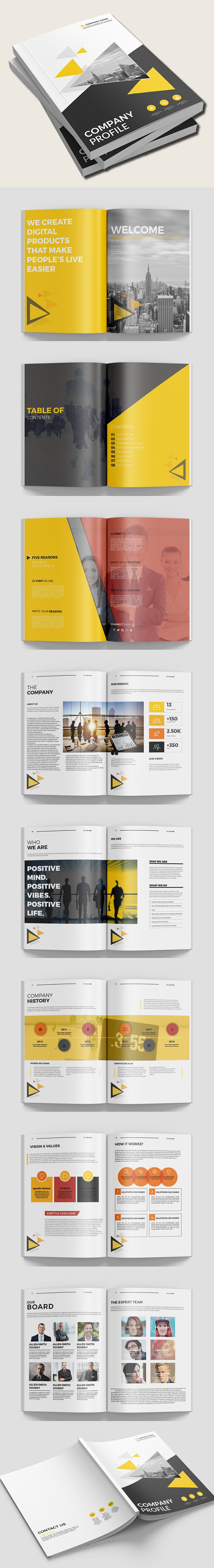 100 Professional Corporate Brochure Templates - 48