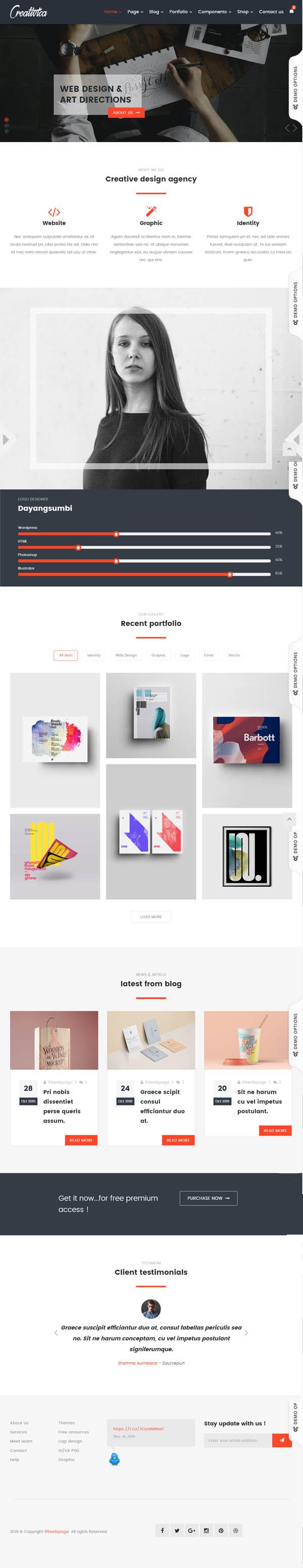 Creativica – Multiple Creative HTML5 Template
