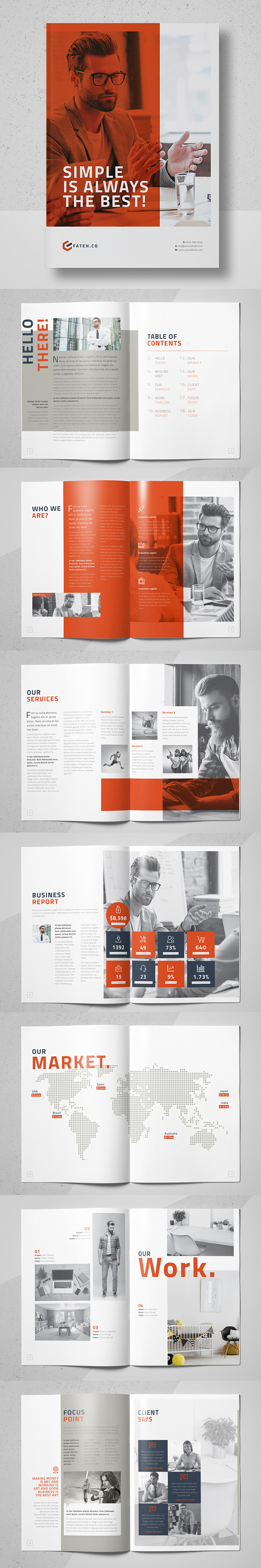 100 Professional Corporate Brochure Templates - 3