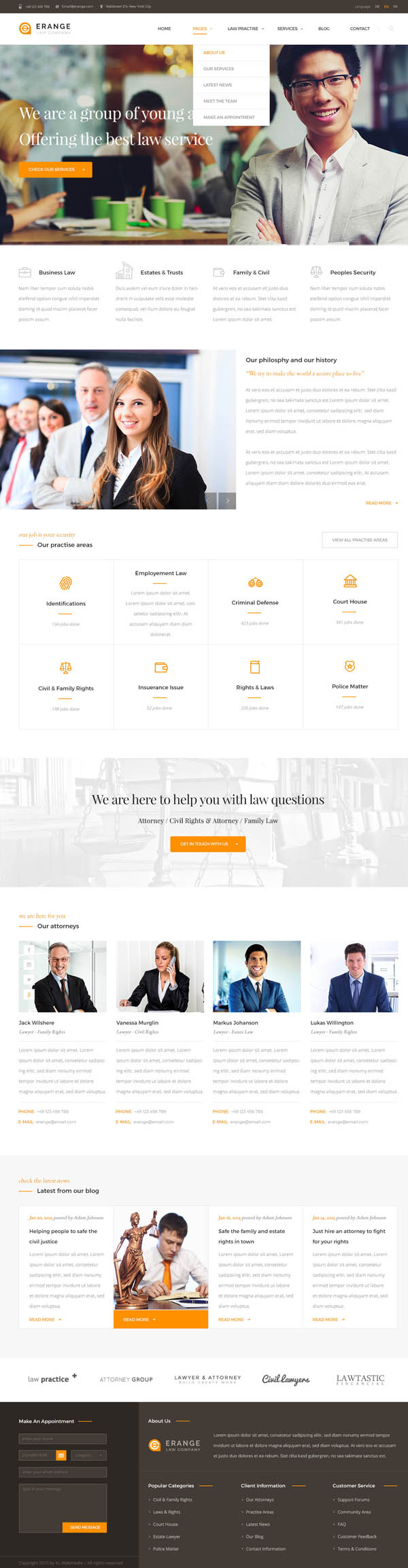 Erange- Responsive HTML Template for Law Firm