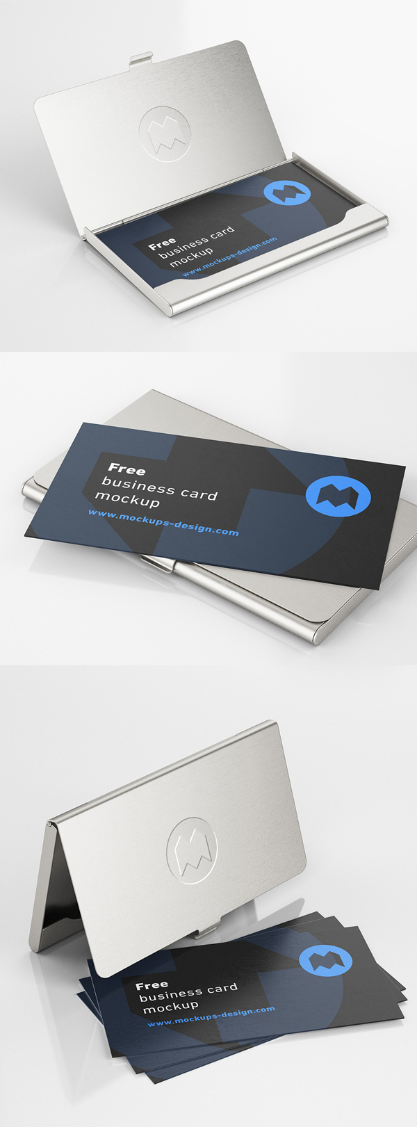 Free Business Card Holder Mockup