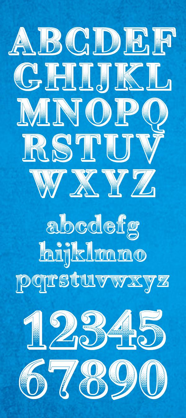 Gradientico Font Letters