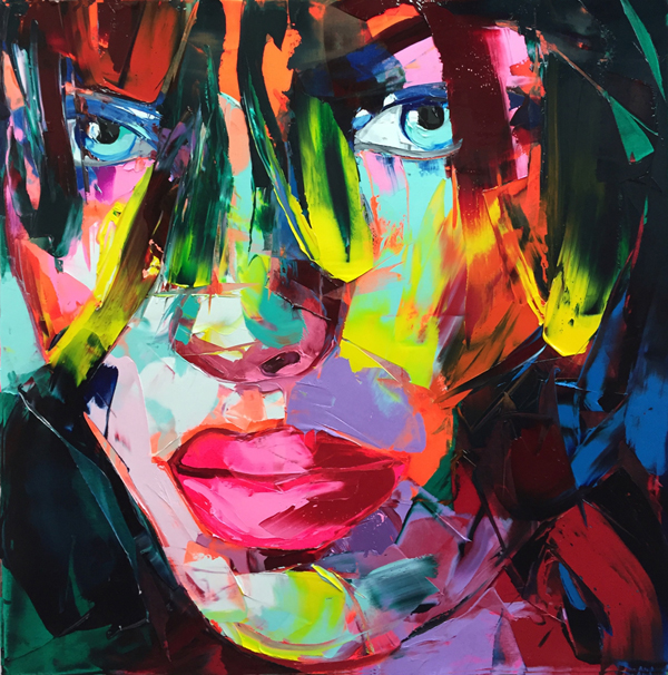 Amazing Graffiti Portrait Painting by Francoise Nielly - 10