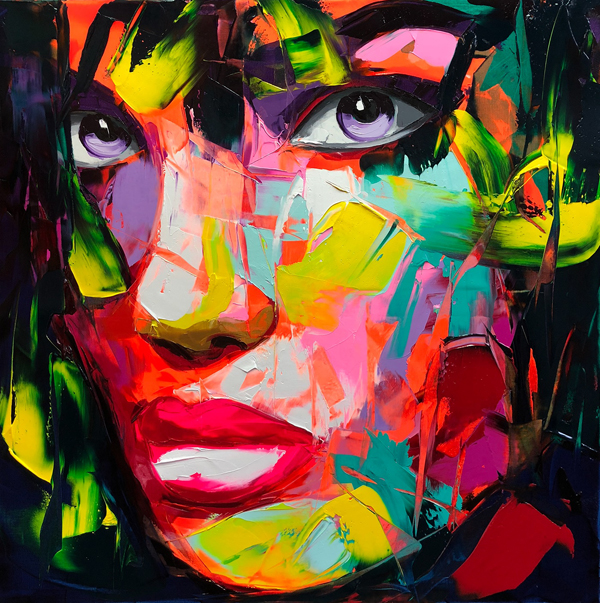 Amazing Graffiti Portrait Painting by Francoise Nielly - 12