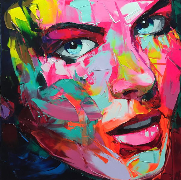 Amazing Graffiti Portrait Painting by Francoise Nielly - 17