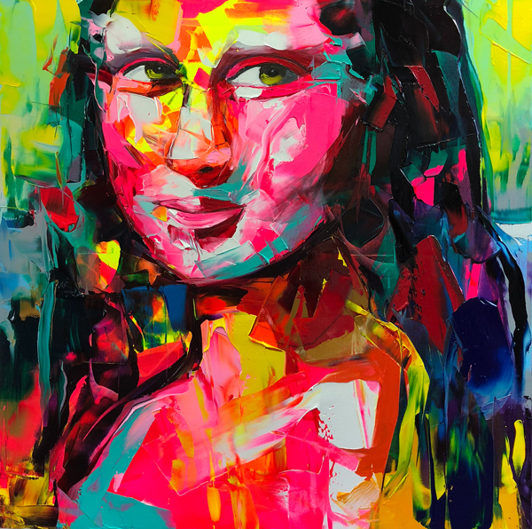 Amazing Graffiti Portrait Painting by Francoise Nielly - 2