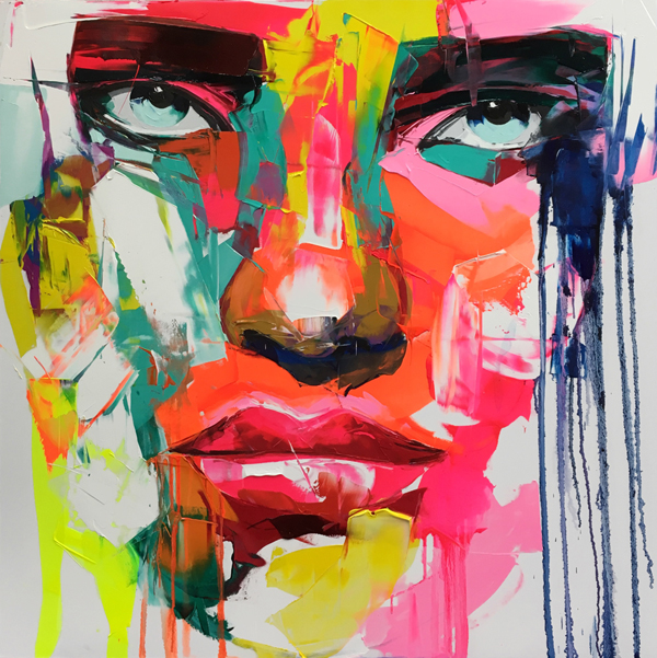Amazing Graffiti Portrait Painting by Francoise Nielly - 4