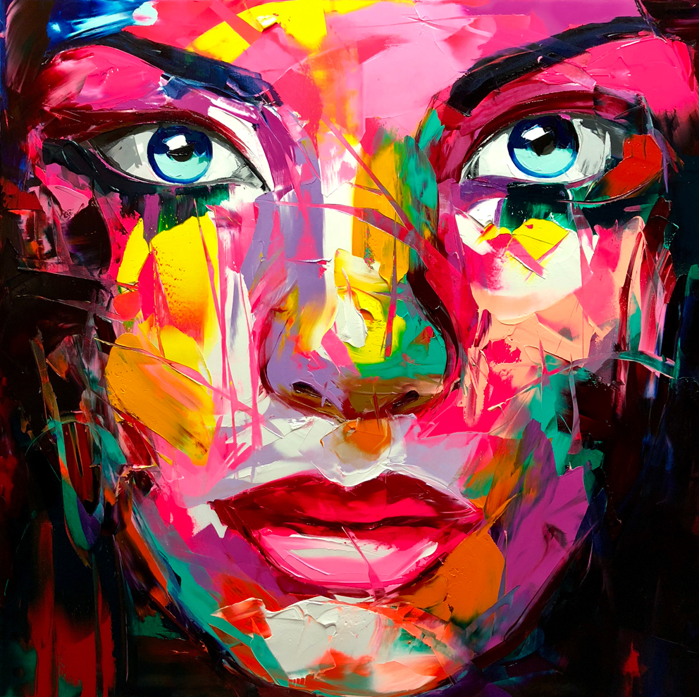 Amazing Graffiti Portrait Painting by Francoise Nielly - 6