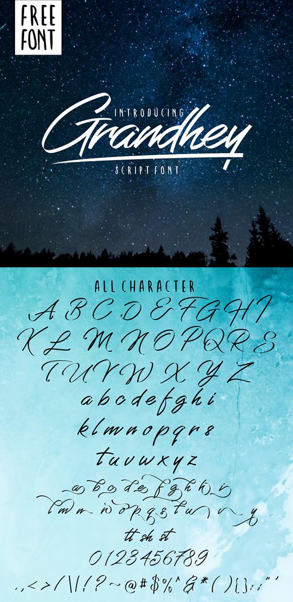 Grandhey Free Script Font
