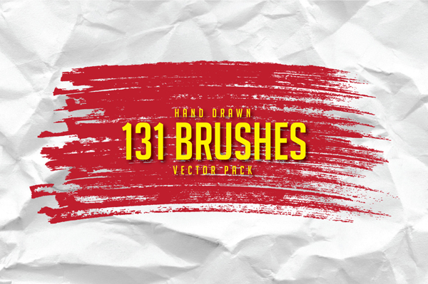 Hand Drawn Brushes Free Pack