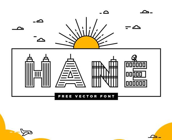 Hane Free Font