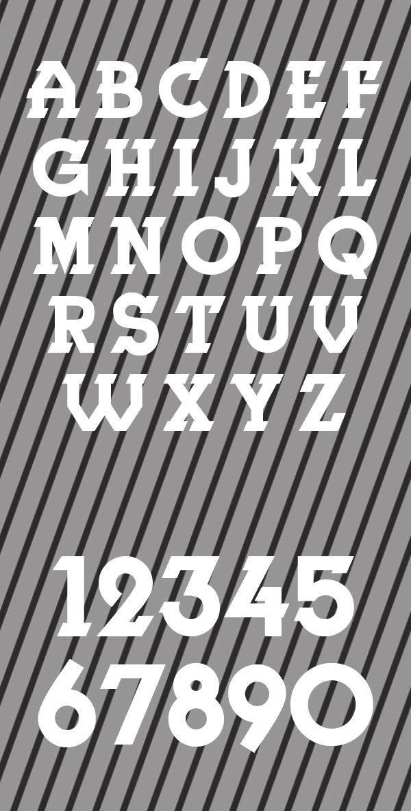 Herne Font Letters